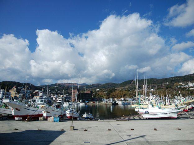 稲取漁港 東地区より